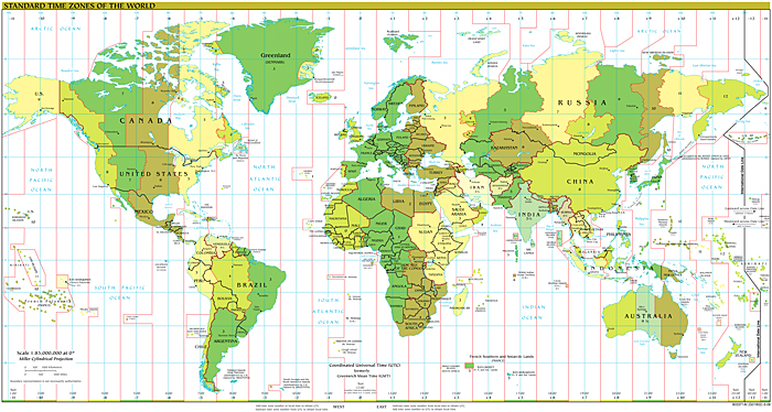 File Time Zones in the World Map The Work of