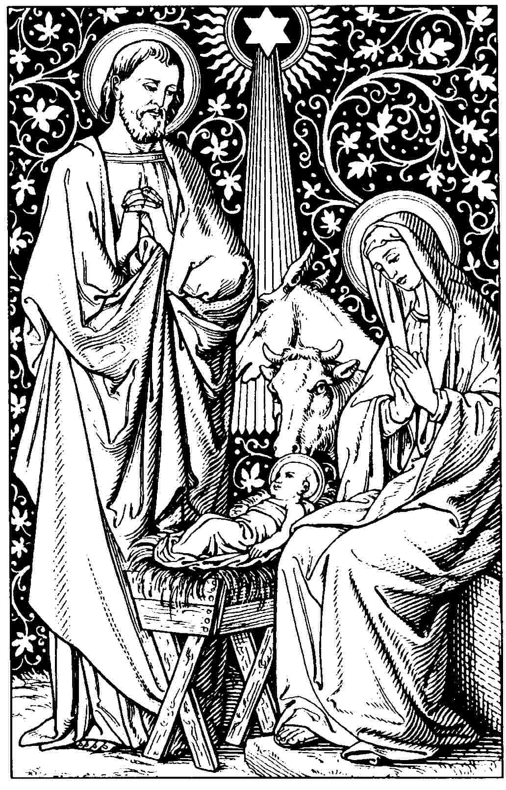 Search results for catholic nativity scene coloring pages for Catholic christmas coloring pages