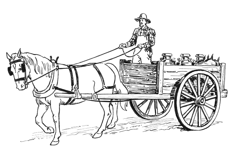 santa horse buggy coloring pages - photo#8