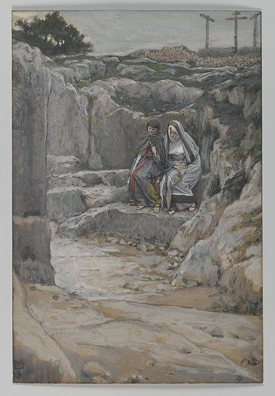 The Two Marys Watch the Tomb(Les deux Maries observent le tombeau)Matthew 27:61Mark 15:47Luke 23:55