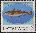 Atlantic cod - 20020810 15sant Latvia Postage Stamp.jpg