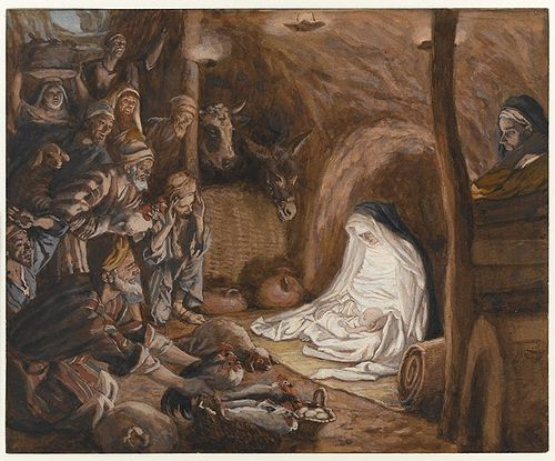 The Adoration of the Shepherds(L'adoration des bergers)Luke 2:16-18
