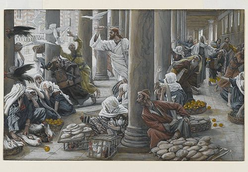 The Merchants Chased from the Temple(Les vendeurs chassés du Temple)Mark 11:16Matthew 21:12-13